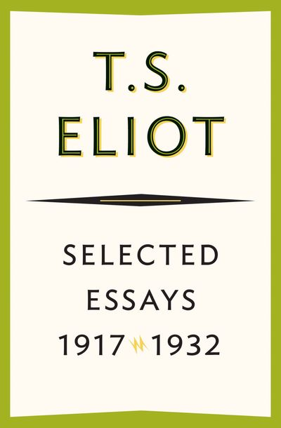 Buy Selected Essays, 1917–1932 at Amazon