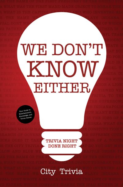 Buy We Don't Know Either at Amazon